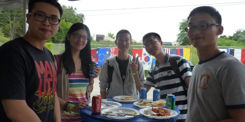 New Students Orientation BBQ Around Table