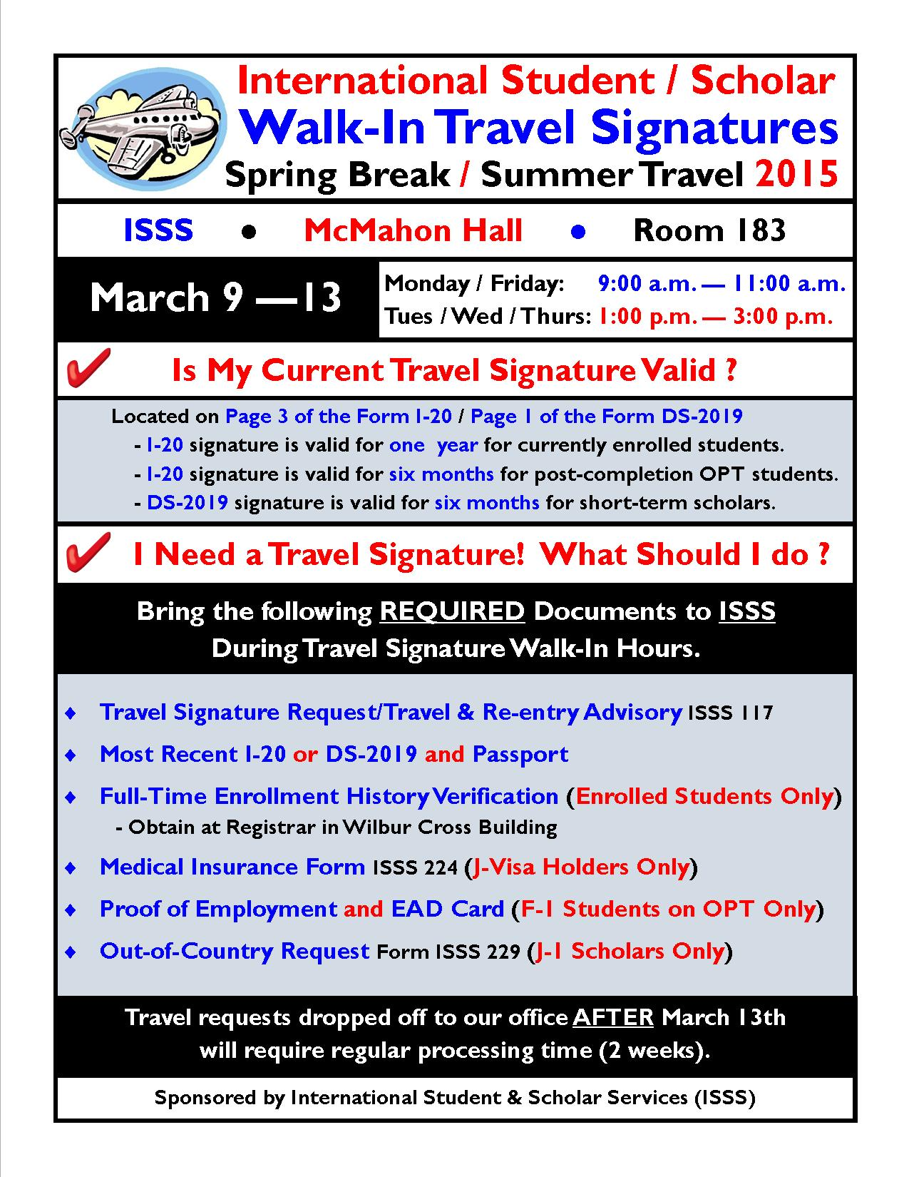 Traveling over spring break? Don't leave without a travel