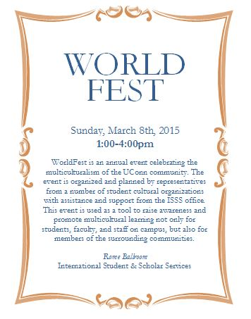 World Fest mini-flyer
