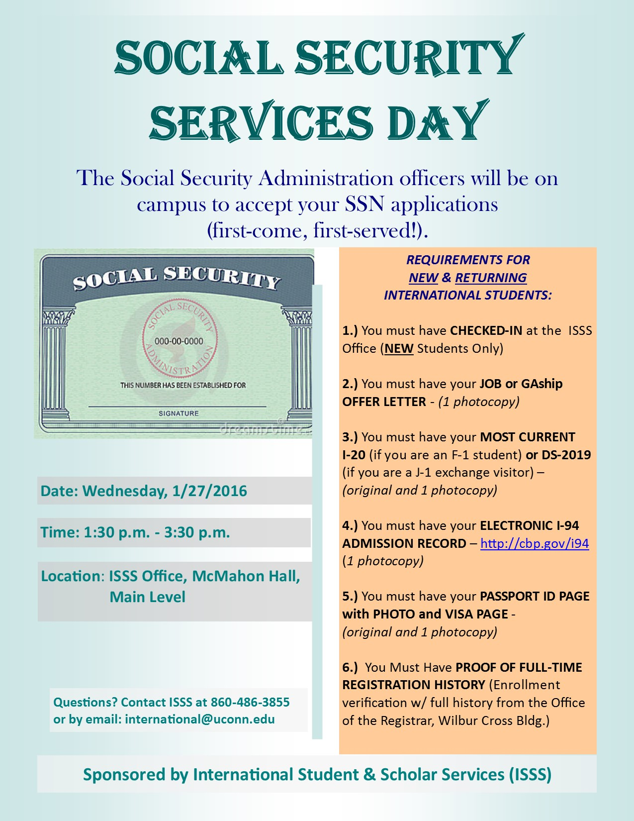 SSN DAY FLYER Sp. 16