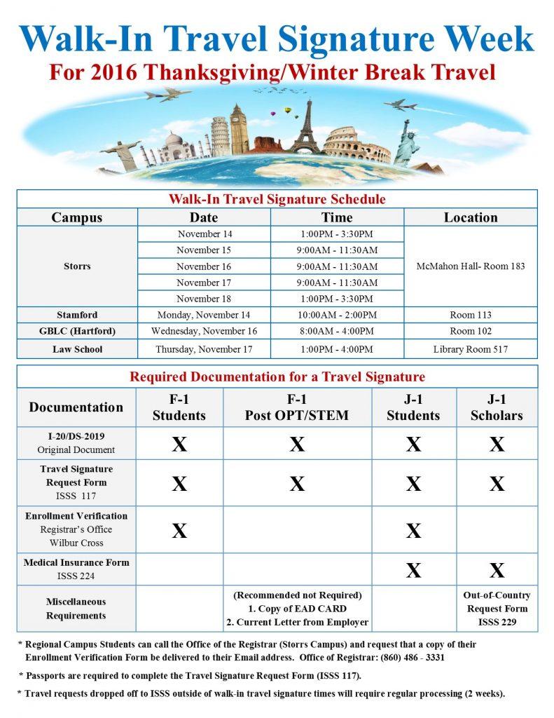 Travel Signature Week Flyer
