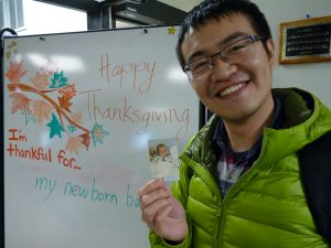 International Student Thankful for Newborn