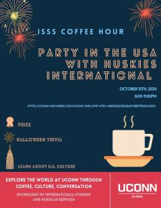 ISSS Coffee Hour - Party in the USA. Held on October 15th, 2020 via WebEx.