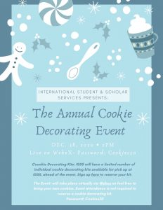 Flyer for Cookie Decorating Event 2020