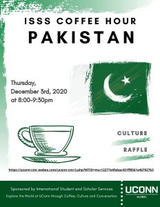 ISSS Coffee Hour - Pakistan. Held Thursday, December 3rd, 2020 via WebEx.