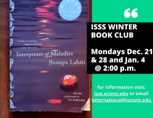 Flyer for ISSS Winter Book Club